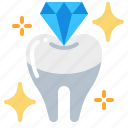 dental, dentist, diamond, teeth, tooth, whitening icon