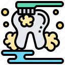 brushing, care, clean, hygiene, teeth icon