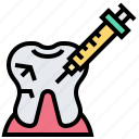 anesthetic, dentist, injection, needle, syringe icon