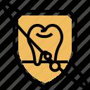 fluoride, healthy, protection, shield, teeth icon