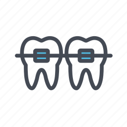 braces, dentist, dentistry, orthodontic icon