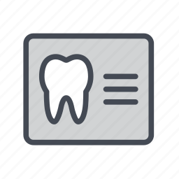 analysis, dental, report, tooth, x-ray icon