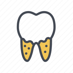 cavity, decay, dental caries, dentist, tooth icon