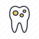 cavity, decay, dental, dental caries, tooth icon
