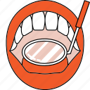 check, dental examination, dentist, dentistry, mouth, orthodontics, tooth icon