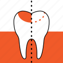 dentist, dentistry, filling, orthodontics, teeth, tooth, tooth-colored fillings icon