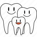 dental care, dental plan, dentist, dentistry, family plan, orthodontics icon