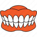 dentist, dentistry, dentures, mouth, orthodontics, tooth icon