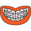 aligners, braces, dentist, dentistry, metal braces, orthodontics icon