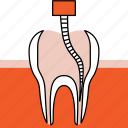dentist, dentistry, orthodontics, root canal, therapy, treatment icon