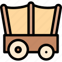 adventure, desert, land, outdoor, wagon icon