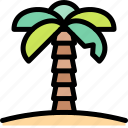 adventure, desert, land, outdoor, palm, tree icon