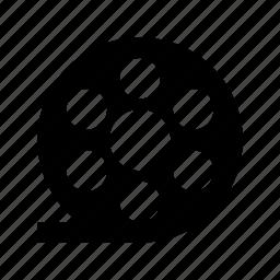 camera reel, film reel, image reel, movie reel, reel icon