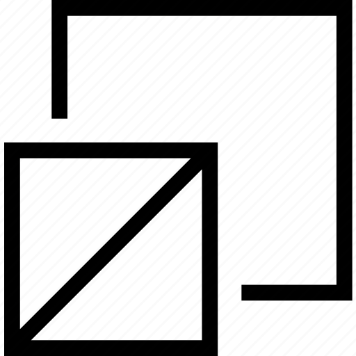 double, square, tool, transform icon