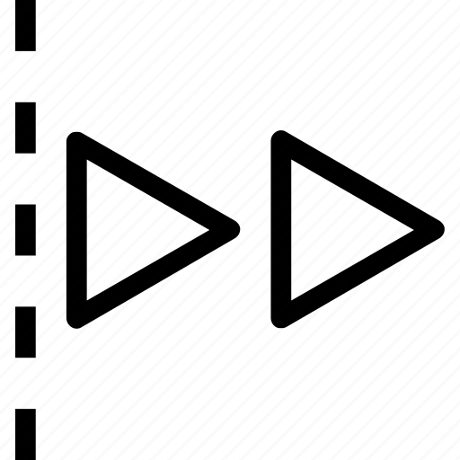 arrow, double, edge, move, right icon