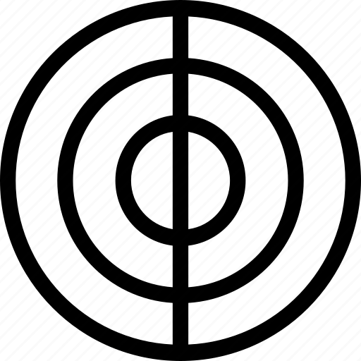circle, half, three icon