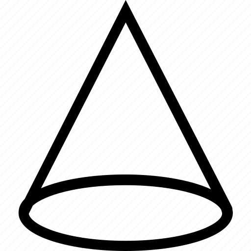 cone, figure, shape icon