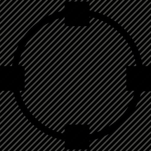 circle, free, tool, transform icon