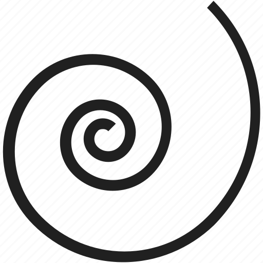 circle, shape, spiral icon
