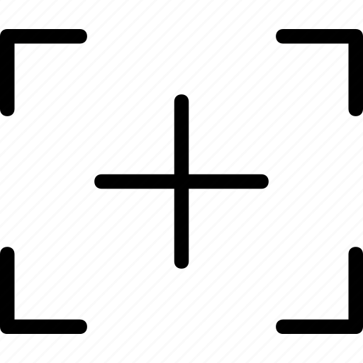 plus, square, target icon