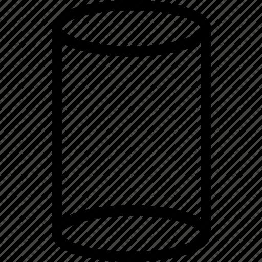 cylinder, figure, shape icon