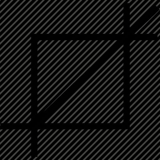 crop, design, tool icon