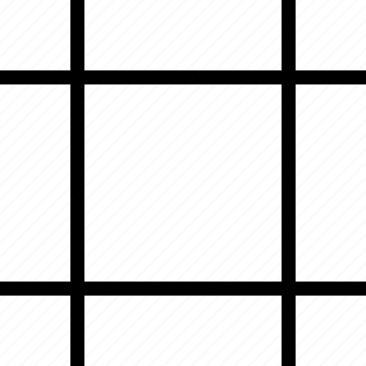 cross, edges, square, tool icon