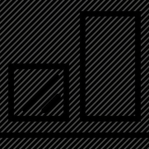 align, bottom, edges, tool icon
