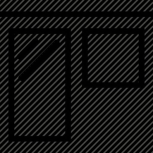 align, edges, tool, top icon