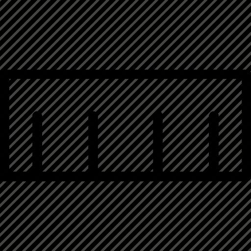 measure, meter, ruler, tool icon