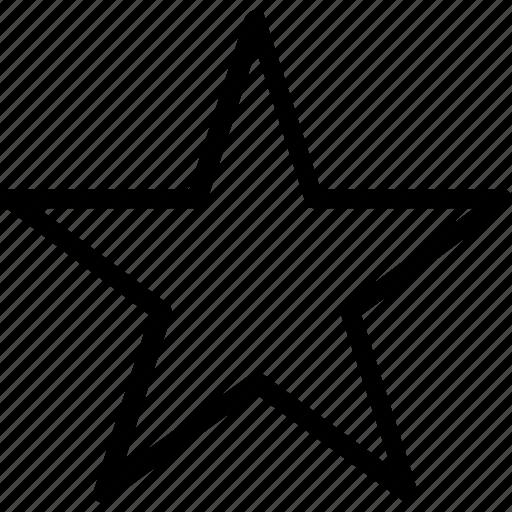 favorite, shape, star icon
