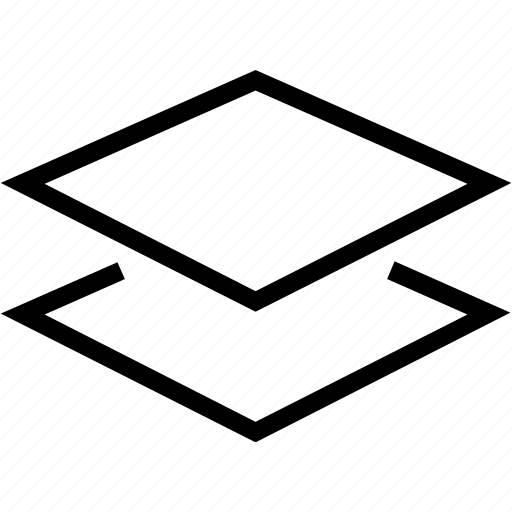 plane, square icon