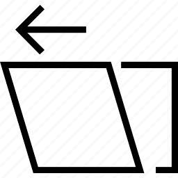 arrow, left, move, square, tool icon