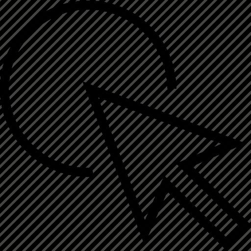 circle, cursor, select, tool icon