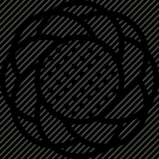 design, flower, hypno icon