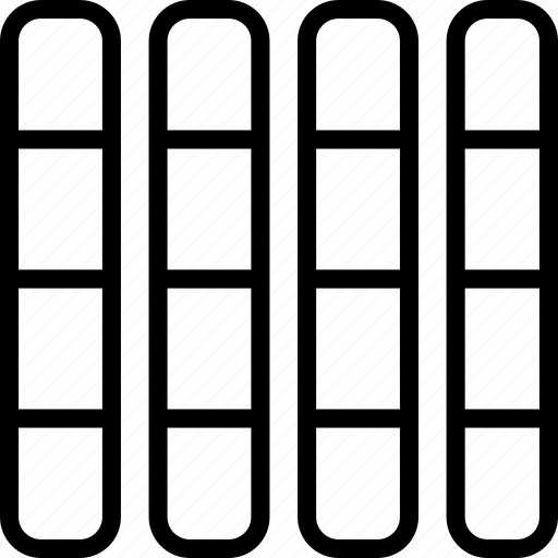 column, display, grid, layout icon