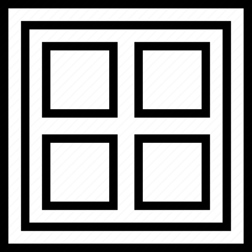 display, frame, grid, layout icon