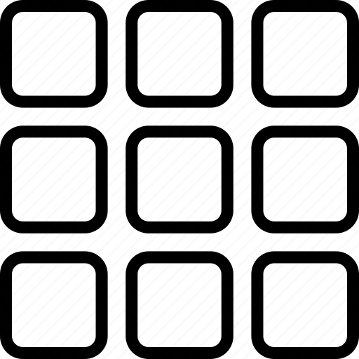 display, grid, layout, square icon