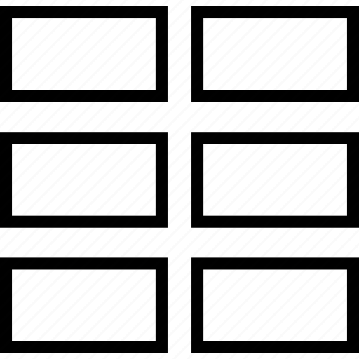 columns, display, grid, layout, two icon