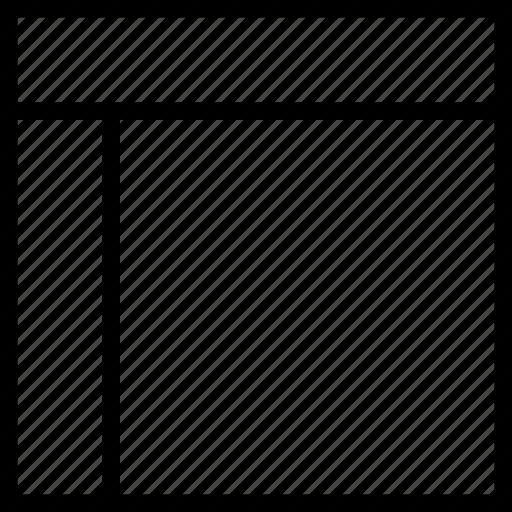 display, header, layout, left, sidebar icon