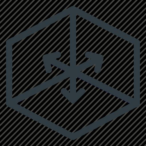 axis, directions, environment, xyz icon