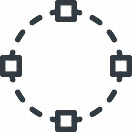 circle, round, select, selection icon