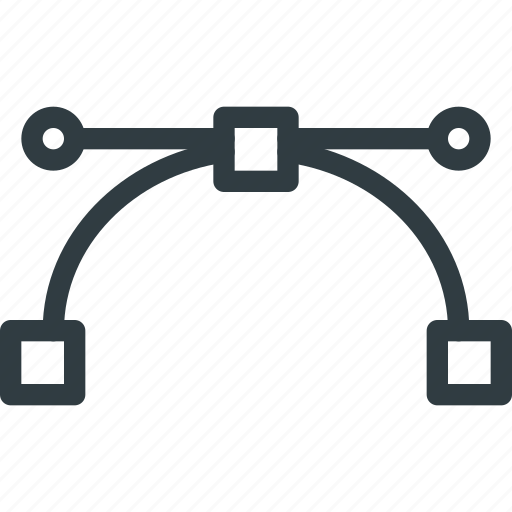 bezier, curve, handle, line icon