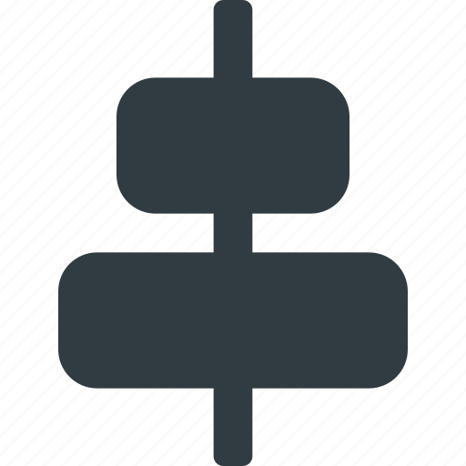 align, center, object, vertical icon