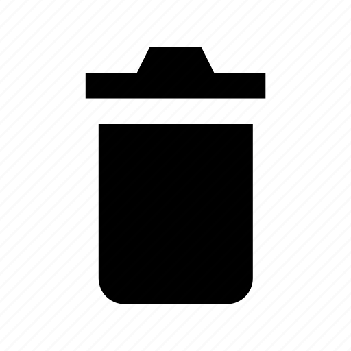 dustbin, garbage can, trash bin, trash can, waste container icon