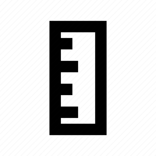 decimal ruler, geometry, measure, ruler, scale icon