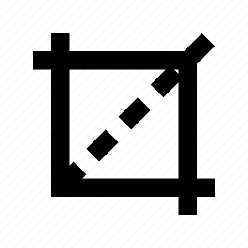 crop tool, cropping, cut off, design, incise icon