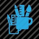 art, design, designer, mug, paint, pencil icon