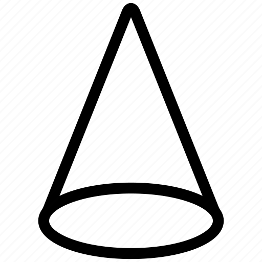 Types Of Cone Shapes: Cone, Design, Shape, Shapes, Triangle Icon