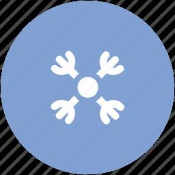 christmas snowflake, origami style, snowflake, snowflake ornament, snowing, winter decoration, winter snowflake icon